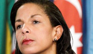 U.N. Ambassador Susan E. Rice is not fit to succeed Hillary Rodham Clinton as secretary of state because she misled the nation about the attack on the U.S. Consulate in Libya, according to a letter sent by 97 House Republicans. (Associated Press)