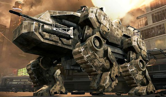 Control a CLAW  (Cognitive Land Assault Weapon ), a remote-controlled quadruped in the miltary shooter Call of Duty: Black Ops 2.