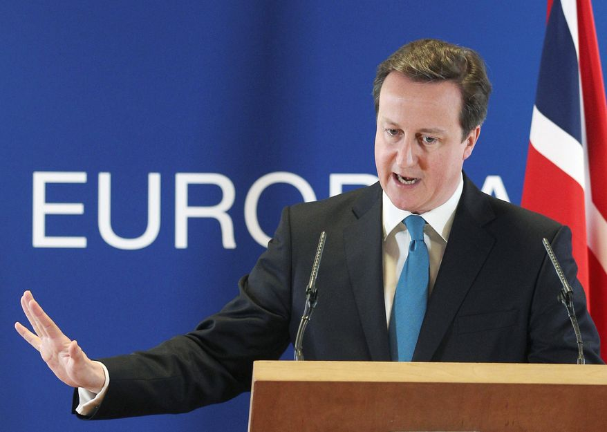 Last month, British Prime Minister David Cameron faced a huge rebellion within his party as 81 of the 303 Conservative lawmakers defied his orders and voted to hold an urgent referendum on European Union membership in 2015. (Associated Press)