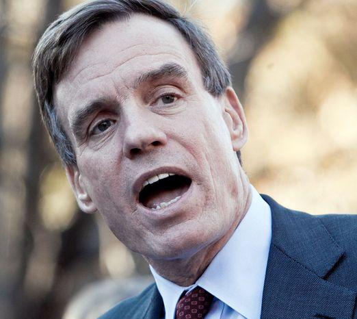 Sen. Mark R. Warner, Virginia Democrat (The Washington Times)