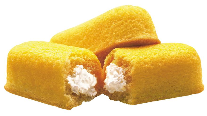 **FILE** This 2003 photo originally released by Interstate Bakeries Corporation shows Twinkies cream-filled snack cakes. Twinkies first came onto the scene in 1930 and contained real fruit until rationing during World War II led to the vanilla cream Twinkie. (Associated Press/Interstate Bakeries Corporation via PRNewsFoto)