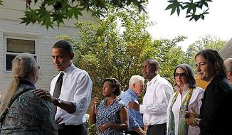 Obama chats up health care