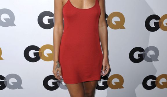 "**FILE** Rihanna attends the GQ ""Men Of The Year"" party at the Chateau Marmont in Los Angeles on Nov. 13, 2012. (John Shearer/Invision/Associated Press)"