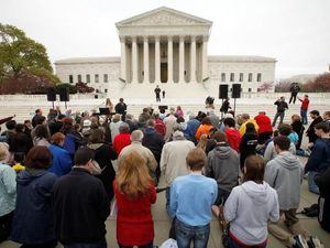 Prayers before opening arguments at Supreme Court