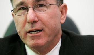 Michael G. Vickers, Assistant Secretary of Defense for Special Operations/Low-Intensity Conflict & Interdependent Capabilities, speaks with The Associated Press during an interview, Friday, Nov. 16, 2007, at the Pentagon in Washington. (AP Photo/Haraz N. Ghanbari)