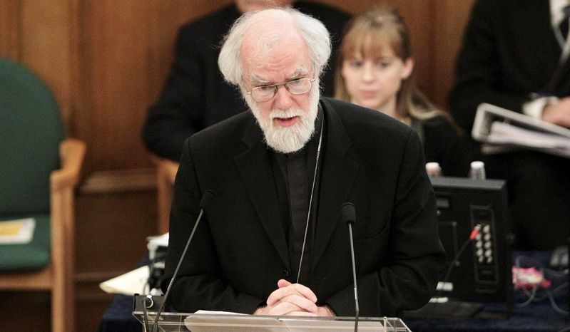 Archbishop of Canterbury Rowan Williams said the Church of England has much explaining to do following its failure to vote to allow women to serve as bishops. The vote among lay members on Tuesday fell short of the required two-thirds majority. (Associated Press)