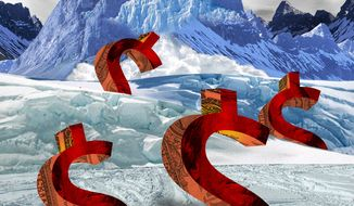 Illustration Fiscal Avalanche by Linas Garsys for The Washington Times