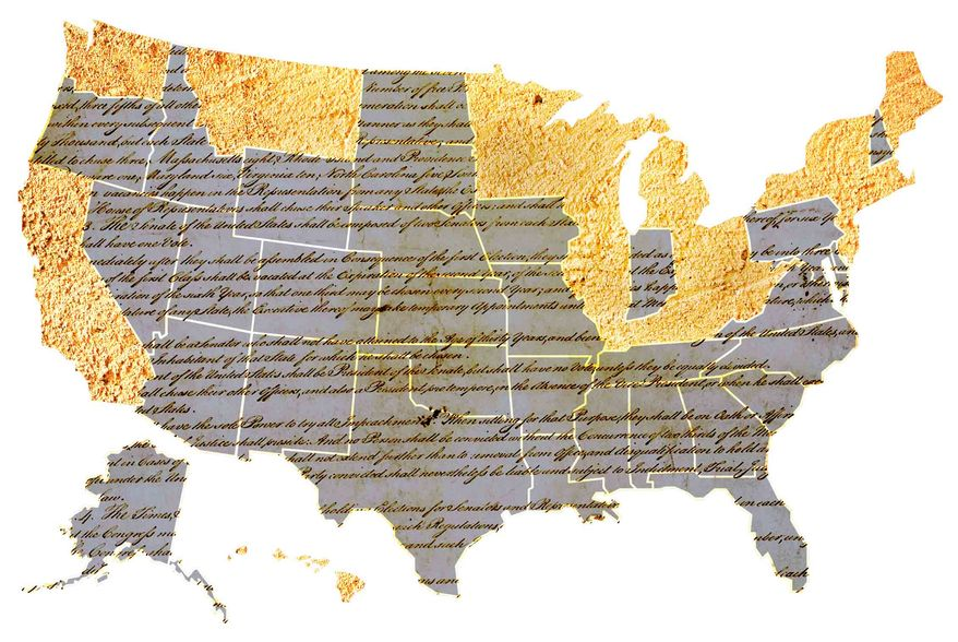 Illustration Convention States by Greg Groesch for The Washington Times