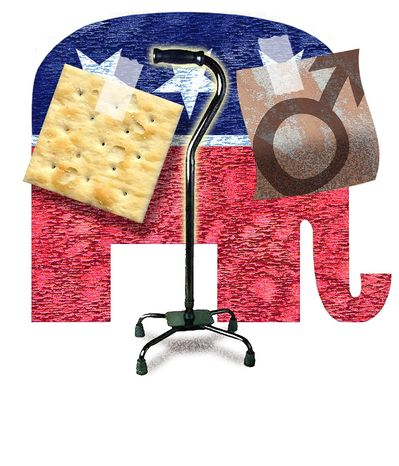 Illustration Old GOP by Alexander Hunter for The Washington Times