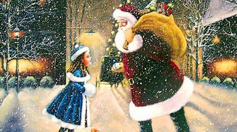 """On Sept. 21, 1897, an 8-year-old girl named Virginia O'Hanlon became a Christmas celebrity when the New York Sun published her letter inquiring into the authenticity of Santa Claus. In what would become the most reprinted newspaper editorial in history, Francis Pharcellus Church wrote, """"Yes, Virginia, there is a Santa Claus."""" On Saturday at the Newseum, Santa Claus lives as Church predicted."""