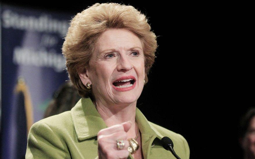 ** FILE ** Sen. Debbie Stabenow, Michigan Democrat. (AP Photo/Carlos Osorio)