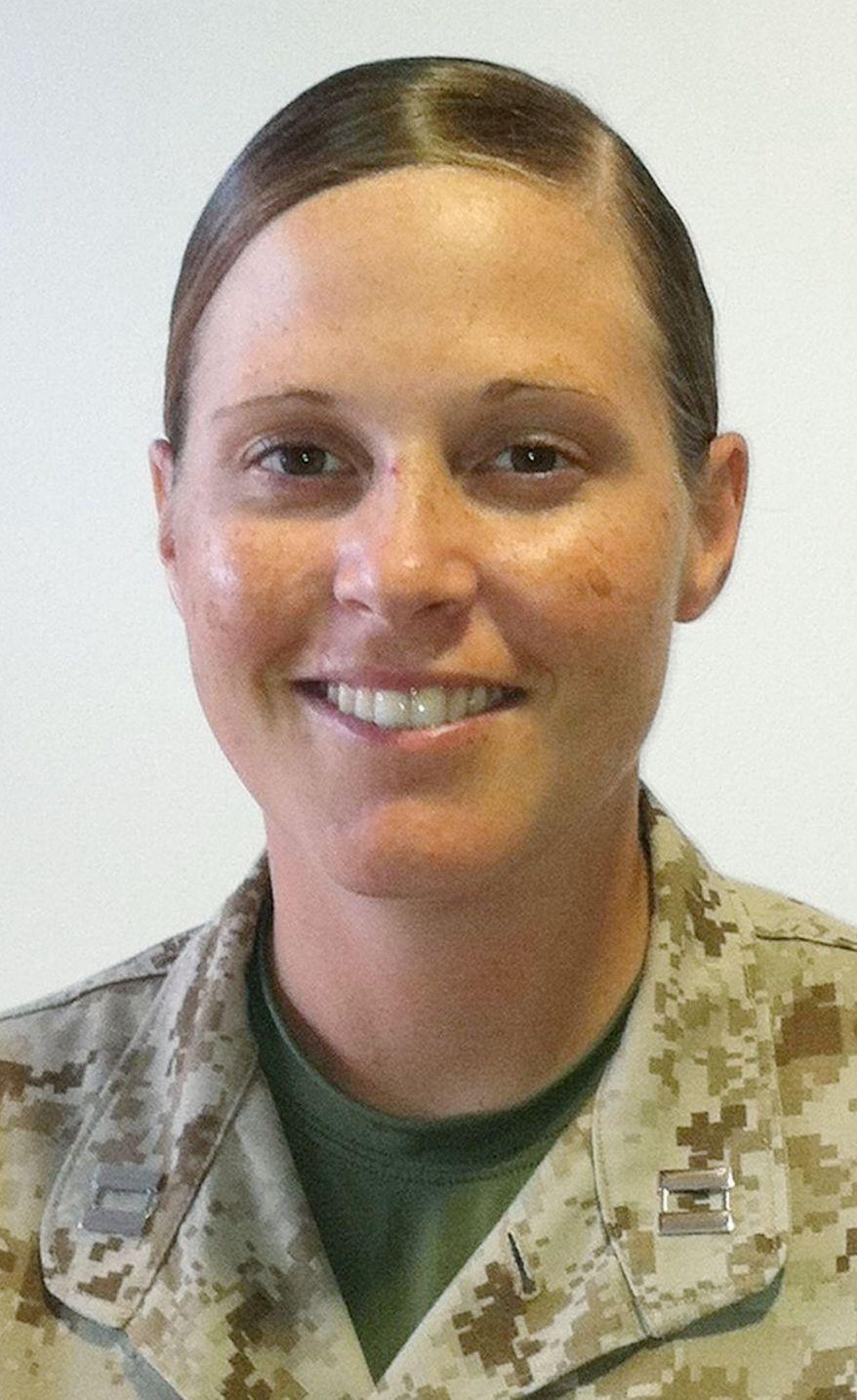 Marine Capt. Katie Petronio. (U.S. Marine Corps)