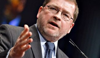 ** FILE ** In this Feb. 11, 2012 photo, anti-tax activist Grover Norquist, president of Americans for Tax Reform, addresses the Conservative Political Action Conference (CPAC) in Washington. (Associated Press)