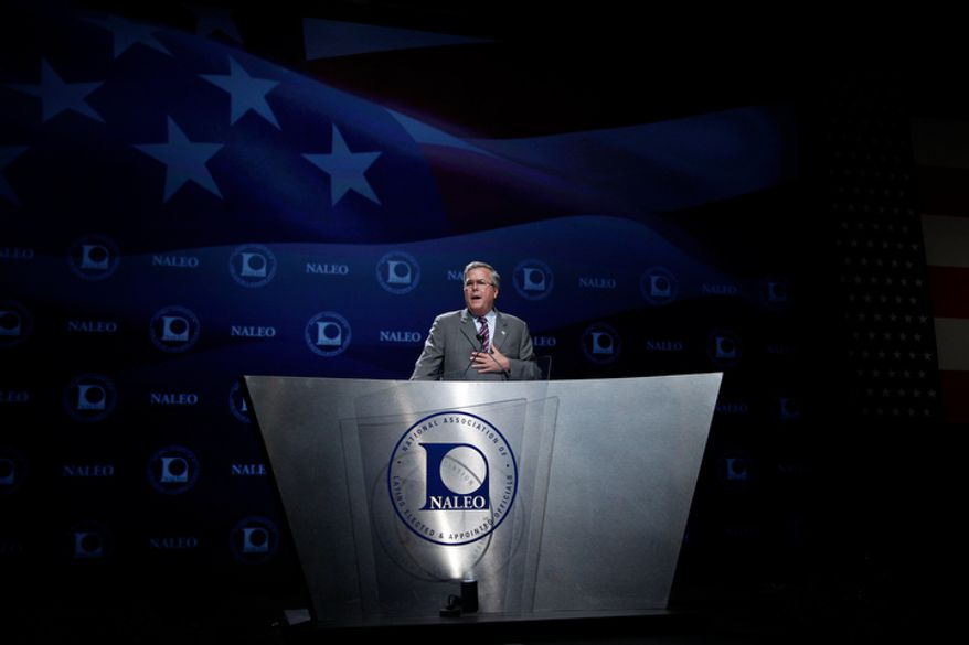 Former Florida Gov. Jeb Bush speaks at the National Association of Latino Elected and Appointed Officials conference in Orlando, Fla., on Thursday, June 21, 2012. (AP Photo/Charles Dharapak)