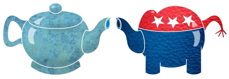 Illustration Tea Party Republicans by Greg Groesch for The Washington Times