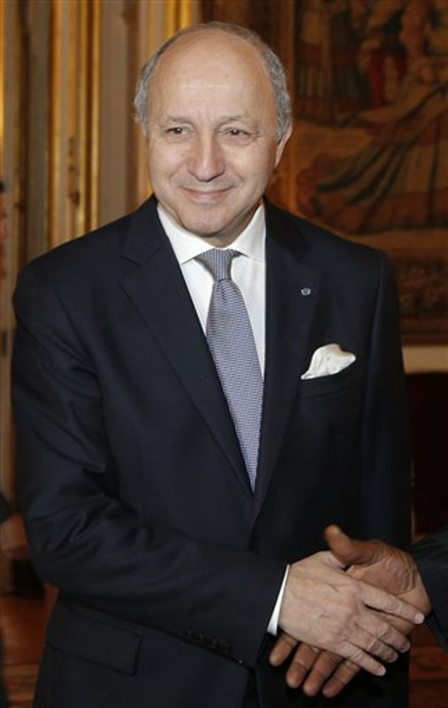 French Foreign Minister Laurent Fabius (AP Photo/Christophe Ena)