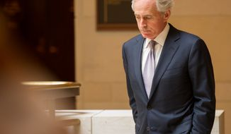 ** FILE ** Sen. Bob Corker, Tennessee Republican (Andrew Harnik/The Washington Times)