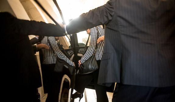 U.N. Ambassador Susan Rice leaves after meeting with Sen. Bob Corker (R-Tenn) in the Senate Visitors Center on Capitol Hill, Washington, D.C., Wednesday, November 28, 2012. (Andrew Harnik/The Washington Times)