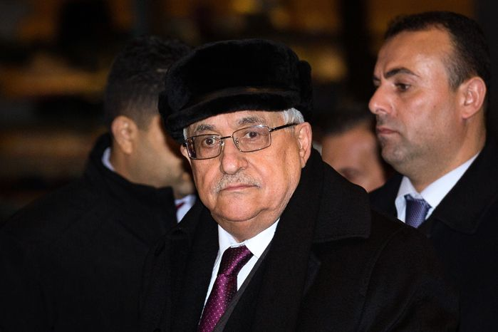 Palestinian President Mahmoud Abbas arrives at the United Nations Plaza Hotel in New York on Tuesday, Nov. 27, 2012. The Palestinians predicted a historic U.N. vote recognizing their statehood this week, praising important new support from France on Tuesday and likely backing from other European nations seen as critical to enhancing their international standing. (AP Photo/John Minchillo)