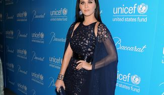Singer-songwriter Katy Perry attends the eighth annual UNICEF Snowflake Ball at Cipriani 42nd Street on Tuesday, Nov. 27, 2012, in New York. (Evan Agostini/Invision/AP)