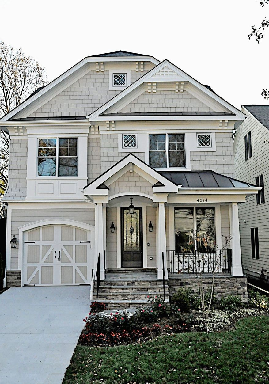 The home at 4514 Chestnut St. in Bethesda, newly built by Crescendo Builders, is on the market for $1,350,000. The home has a custom-designed wood front door and HardiPlank siding. It has five bedrooms, four full baths and a powder room.