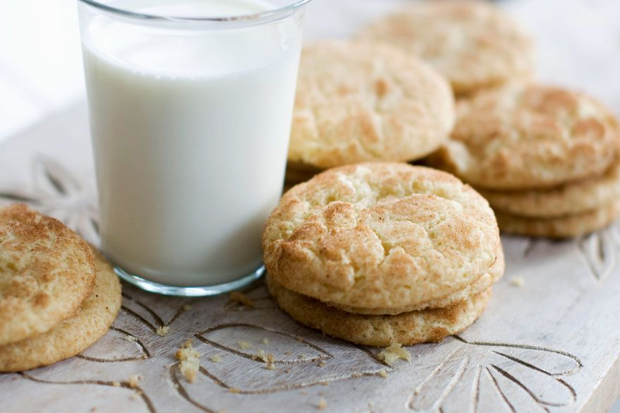 Adding eggnog to the ingredients brings out more of the clean vanilla taste of the simple snickerdoodle, a holiday classic. (Associated Press)