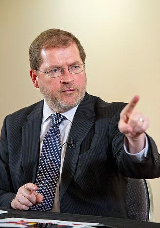 **FILE** Americans for Tax Reform chief Grover Norquist. (Barbara L. Salisbury/The Washington Times)