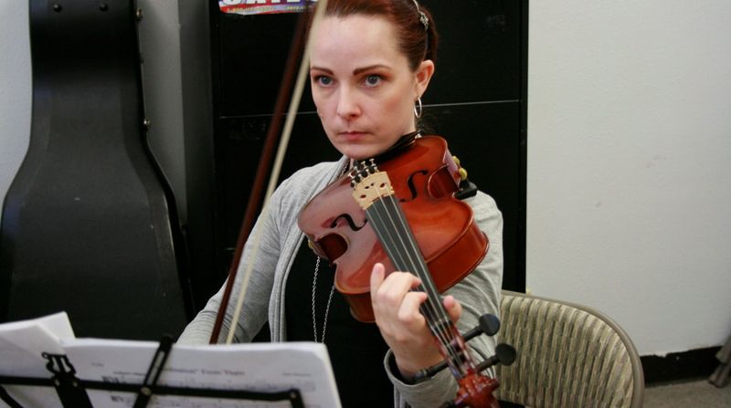 Convicted murderer Sarah Jane Coffman, who was released from prison Feb. 1, returns to Hiland Mountain Correctional Center in Eagle River, Alaska, every Saturday for orchestra practice. (Associated Press)