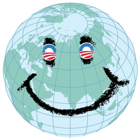 Illustration Obama's Global Makeover by Greg Groesch for The Washington Times