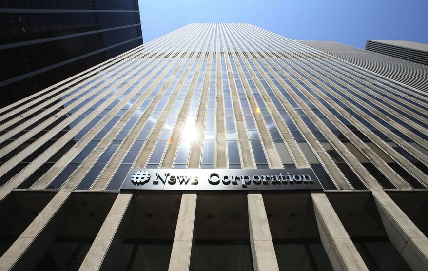 **FILE** News Corp's headquarters is seen here in New York on July 31, 2007. (Associated Press)