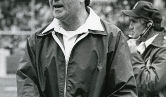 Washington Redskins coach Jack Pardee.  (Joseph Silverman/The Washington Times)  circa Dec. 7, 1983.