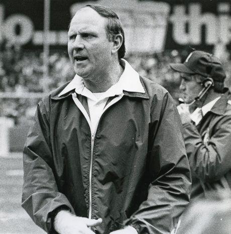 Washington Redskins coach Jack Pardee.  (Joseph Silverman/The Washington Times)  circa Dec. 7, 1983.