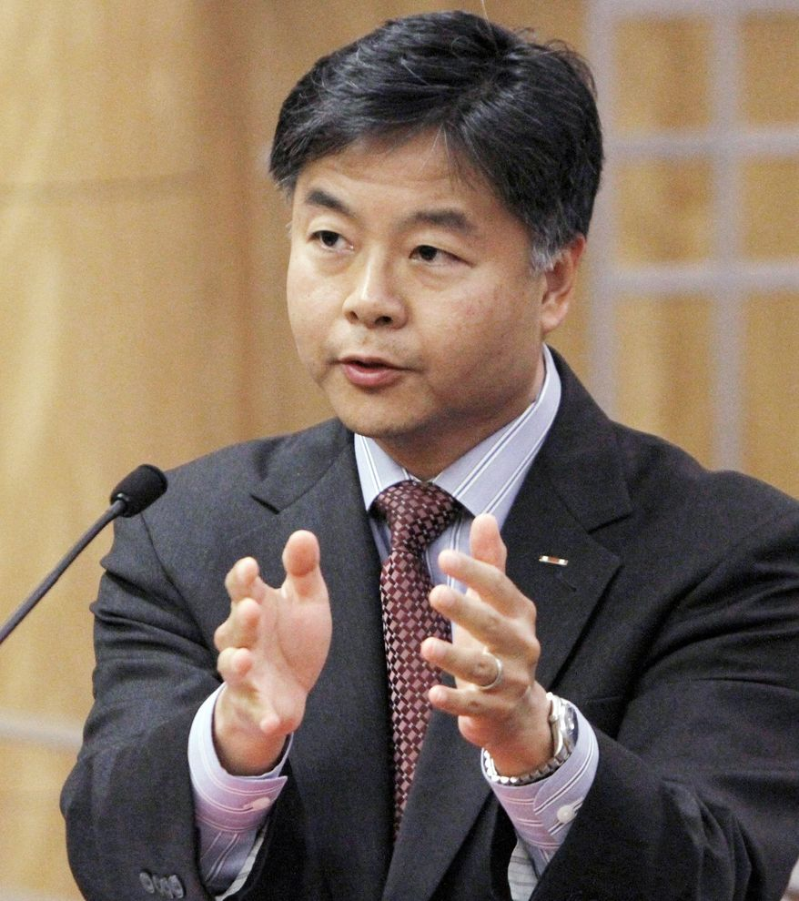 State Sen. Ted Lieu urged fellow California lawmakers to approve his bill to ban a controversial form of psychotherapy aimed at making gay people straight. The law was passed and then signed by Gov. Jerry Brown. (Associated Press)