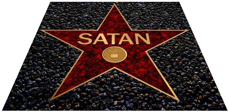 """Satan's Star"" (Illustration by Greg Groesch/The Washington Times)"