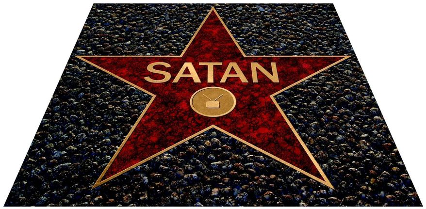 """Satan's Star"" (Illustration by Greg Groesch/The Washington Times)"