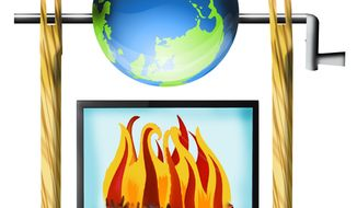 Illustration Global Warming by John Camejo for The Washington Times