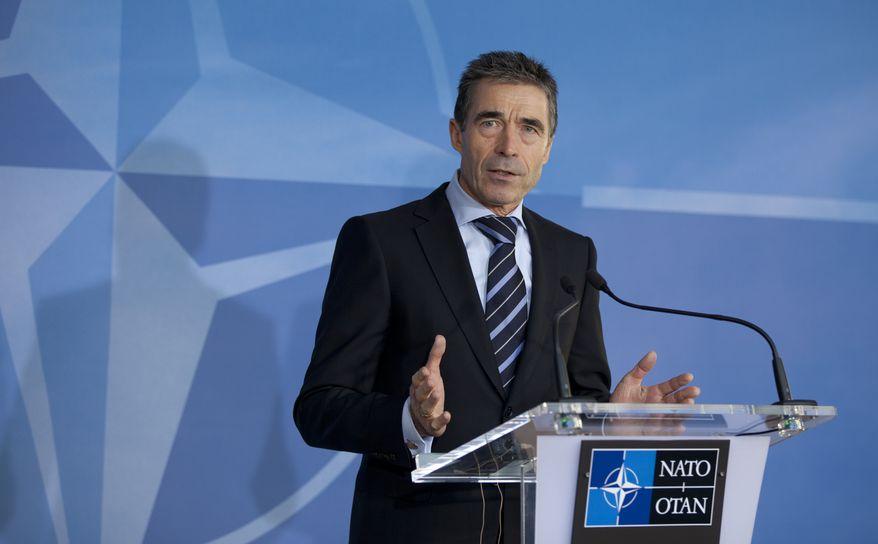 ** FILE ** NATO Secretary-General Anders Fogh Rasmussen. (AP Photo/Virginia Mayo)