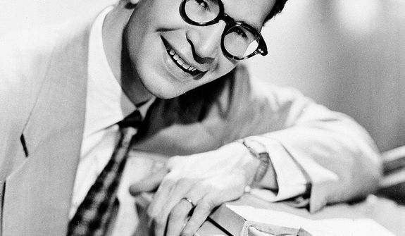 "This 1956 file photo shows Dave Brubeck, American composer, pianist and jazz musician. Brubeck, who turns 90 on Monday, Dec. 6, 2010, will celebrate the day by gathering in the family home in the Connecticut woods to watch Turner Classic Movies broadcast ""Dave Brubeck: In His Own Sweet Way,"" a new documentary directed by Bruce Ricker, produced by Clint Eastwood and narrated by Alec Baldwin. (AP Photo/File)"