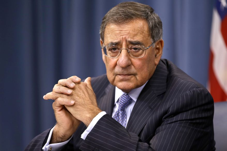 **FILE** Defense Secretary Leon Panetta listens during a Sept. 27, 2012, news conference at the Pentagon in Washington. (Associated Press)