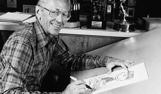 """Peanuts"" cartoonist Charles M. Schulz is pictured in 1978. (AP Photo) ** FILE **"