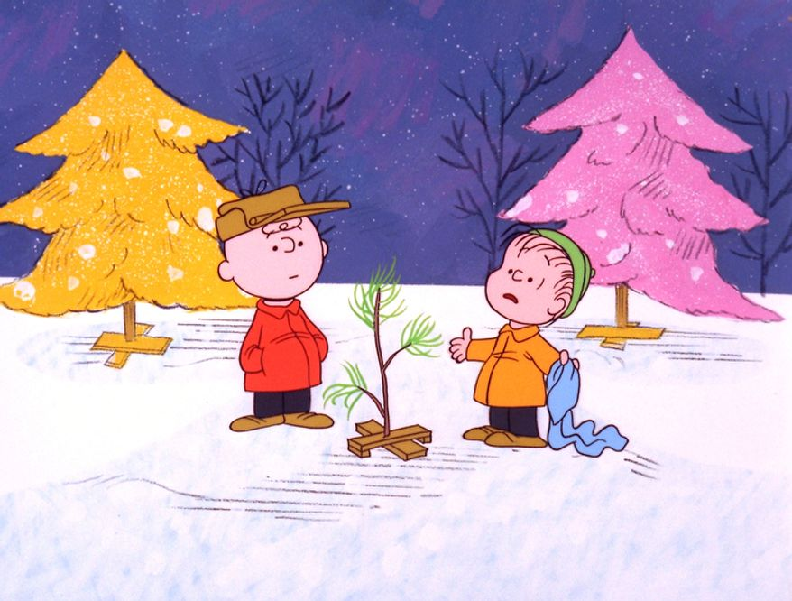 "Charlie Brown and Linus appear in a scene from ""A Charlie Brown Christmas,"" a television special based on the ""Peanuts"" comic strip by Charles M. Schulz. (AP Photo/ABC, copyright 1965 by United Feature Syndicate Inc.)"