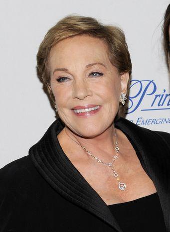 Julie Andrews attends the Princess Grace Foundation Awards gala in New York in November 2011. (AP Photo/Evan Agostini)