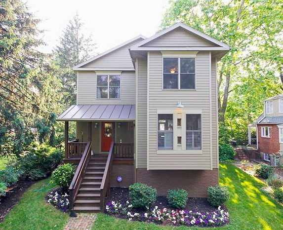 The home at 803 Houston Ave. in Takoma Park is on the market for $750,000. The four-bedroom home, built in 2005, has two full baths, a powder room and a partially finished full basement.