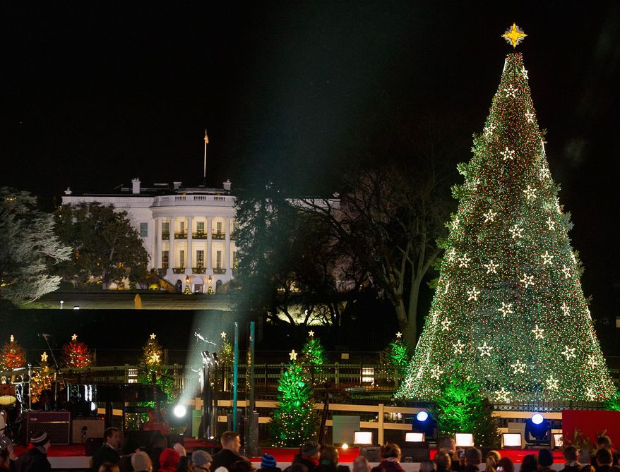 The National Christmas Tree this year is a 30-foot Colorado spruce transported from northwest Virginia. (Andrew Harnik/The Washington Times)