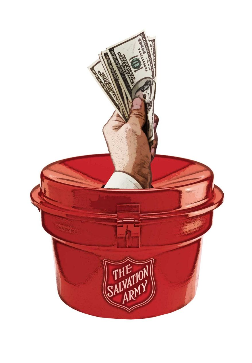 Salvation Army. Illustration by Greg Groesch/The Washington Times