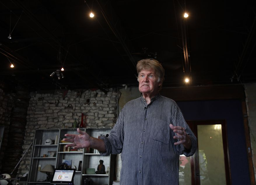 Joel Biddle, a Key West, Fla., resident who contracted dengue fever, opposes a plan to release genetically modified Aedes aegypti mosquitoes to control the spread of the disease. (AP Photo/Wilfredo Lee)