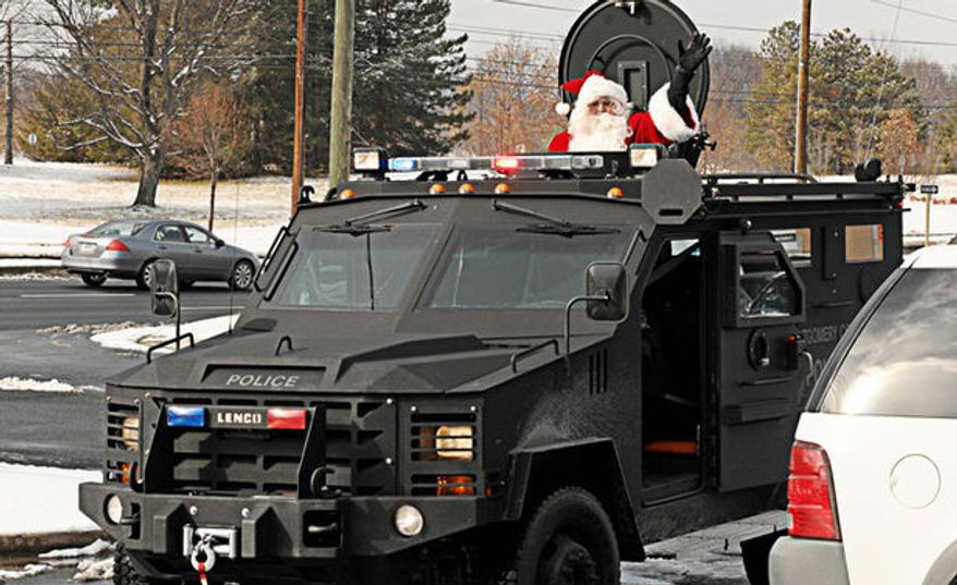 An armored vehicle like the ones Homeland Security Department grants have helped buy for various urban communities. This vehicle belongs to Montgomery County, Maryland, which declined to say Tuesday whether it used Homeland funding to help underwrite the cost. Photo courtesy of Sen. Tom Coburn's office.