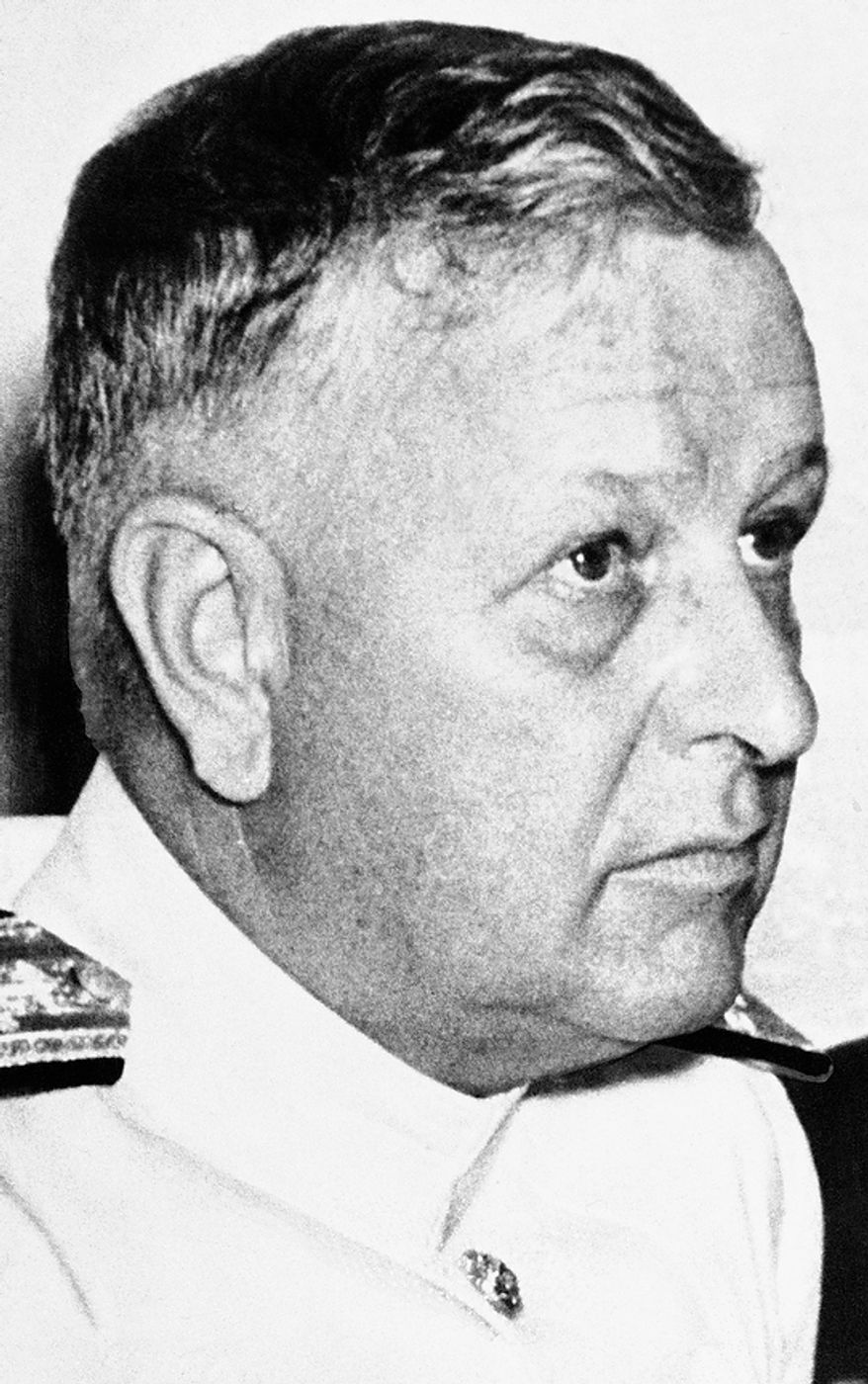 Admiral Husband E. Kimmel was accused by a special commission of dereliction of duty over the Japanese attack on Pearl Harbor, Jan. 24, 1942. (AP Photo)