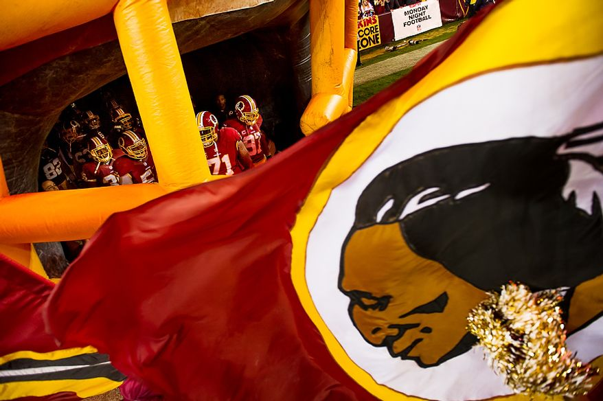The Washington Redskins take the field against the New York Giants for Monday Night Football at FedEx Field, in Landover, Md., Monday, December 3, 2012. (Andrew Harnik/The Washington Times)