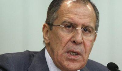 Russian Foreign Minister Sergey Lavrov (AP Photo/Mikhail Metzel)